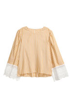 Striped blouse - Mustard yellow/White striped -  | H&M 2